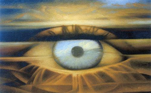 Eye of the Artist 40x63 cm, oil on canvas, 2004