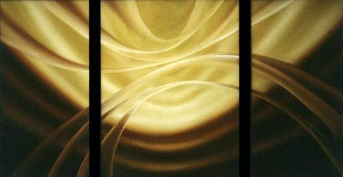 Arthur Braginsky - Forms of the Astral World triptych 80x140 cm, oil on canvas, 1992