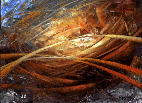 Arthur Braginsky - Cosmic Strings, 60x80 cm, oil on canvas, 2011