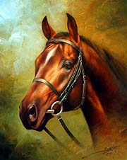 Arthur Braginsky - Head of a Red Horse 50x40, oil on canvas, 2005