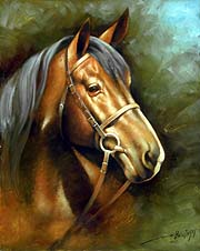 Arthur Braginsky - Head of a Horse 50x40, oil on canvas, 2005