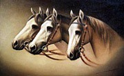 Arthur Braginsky - Horses 40x60, oil on canvas, 2000