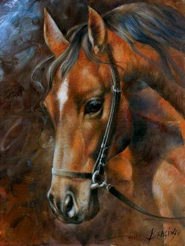 Arthur Braginsky - Horse 40x30, oil on canvas, 2010