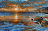 Arthur Braginsky - Sunset 65x100, oil on canvas, 2010