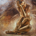 Arthur Braginsky - Nude, oil on canvas, 80х80, 2014