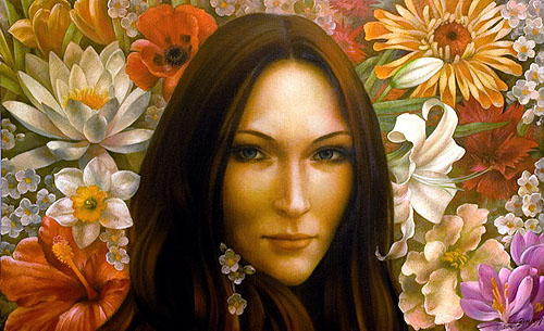 Arthur Braginsky - Modern Mona Lisa 50x80, oil on canvas, 2008