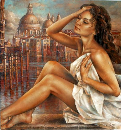 Arthur Braginsky - id_242_Morning_in_Venice_b 65х60 cm, oil on canvas, 2011
