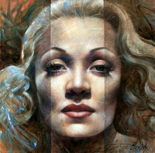 Arthur Braginsky - Marlene Dietrich, 80x80 cm, oil on canvas, 2012