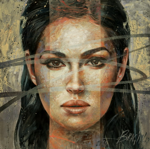 Arthur Braginsky - Monika, 80x80 cm, oil, canvas, 2015